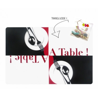 6 sets de table opaques - A table !