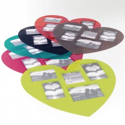 6 sets de table avec photos - 41 x 45 cm - Forme coeur - Souvenirs - Différents coloris