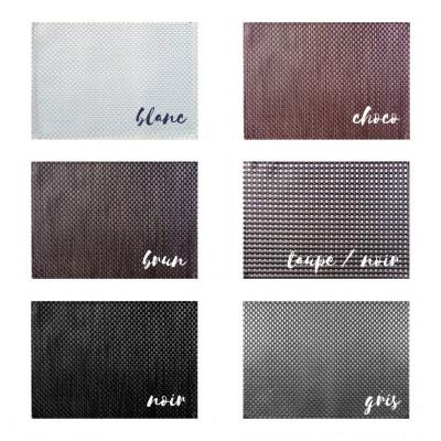 6 sets de table - 32 x 47 cm - Tressés - Différents coloris