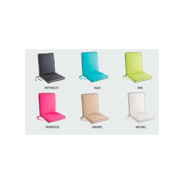 Coussin fauteuil salon de jardin - 90 x 42 x 5 cm - Garden - Spécial ...