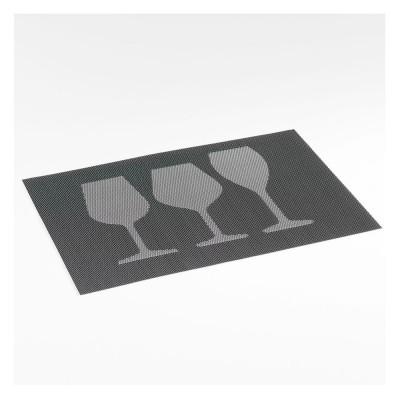 6 sets de table - 30 x 45 cm - PVC - Verres