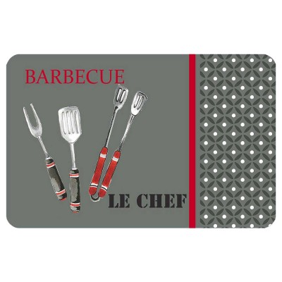 6 sets de table opaques - Barbecue - BBQ