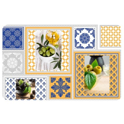 6 sets de table opaques - Olei, olives