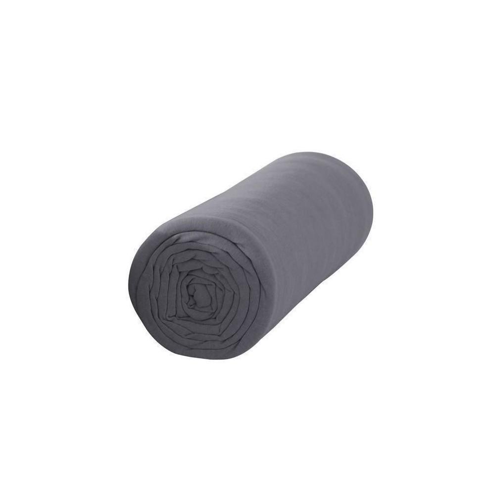 Drap housse - 160 x 200 cm - Percale - 78 fils/cm² - Différents coloris : Couleur:Canon de fusil
