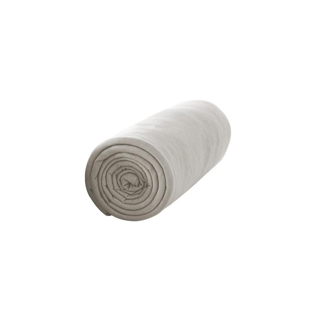 Drap housse - 160 x 200 cm - Percale - 78 fils/cm² - Différents coloris : Couleur:Mastic