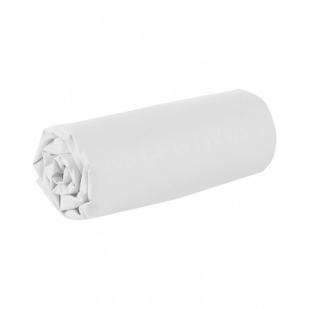 Drap housse - 180 x 200 cm - 100% coton - 57 fils - France : Couleur:Blanc
