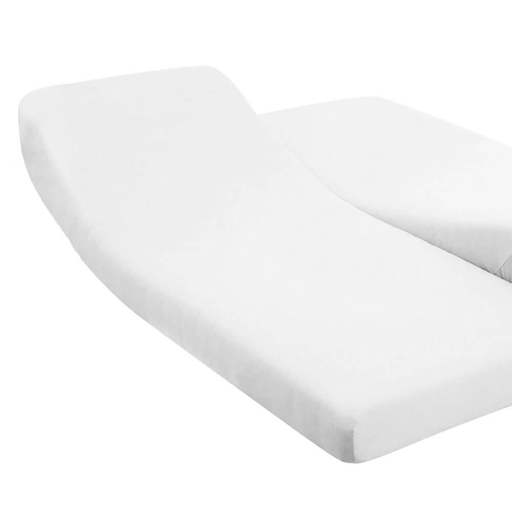 DH - 180 x 200 cm - pour lit articulé : Couleur:Blanc