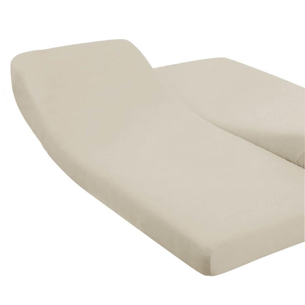 DH - 180 x 200 cm - pour lit articulé : Couleur:Écru