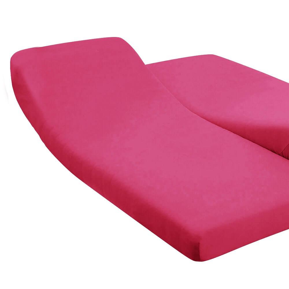 DH - 180 x 200 cm - pour lit articulé : Couleur:Fuchsia