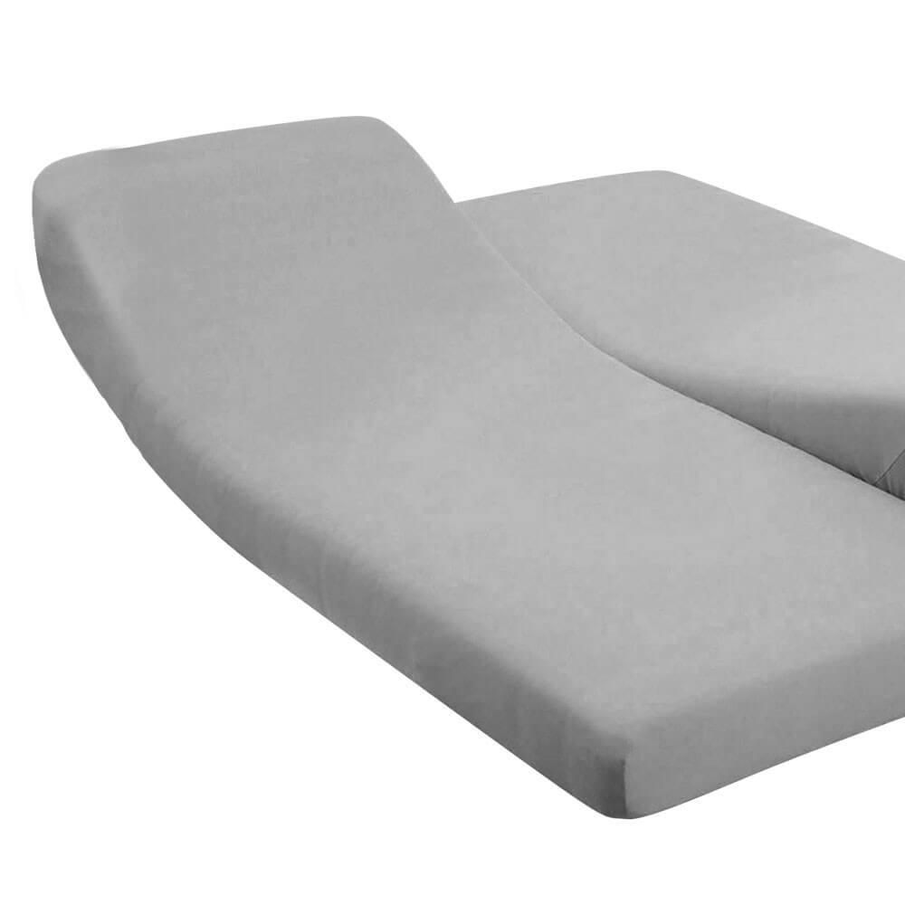 DH - 180 x 200 cm - pour lit articulé : Couleur:Gris
