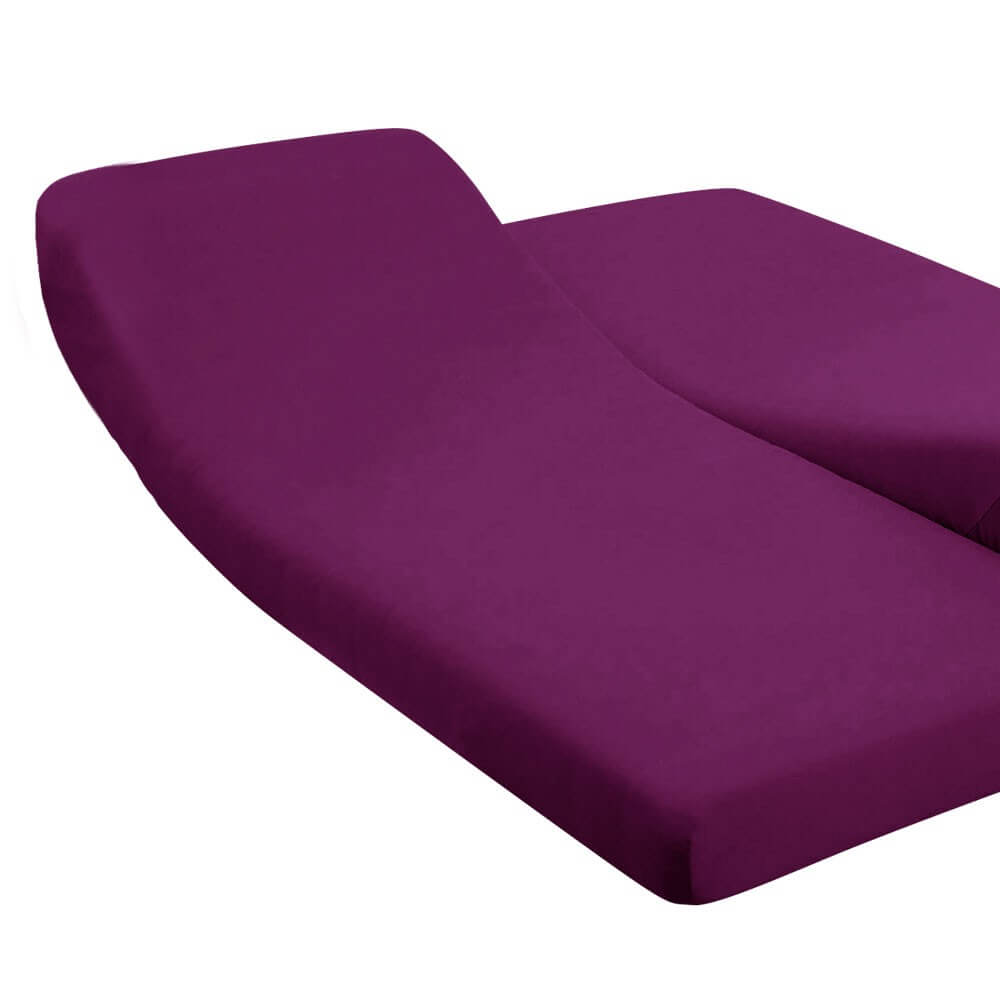 DH - 180 x 200 cm - pour lit articulé : Couleur:Prune