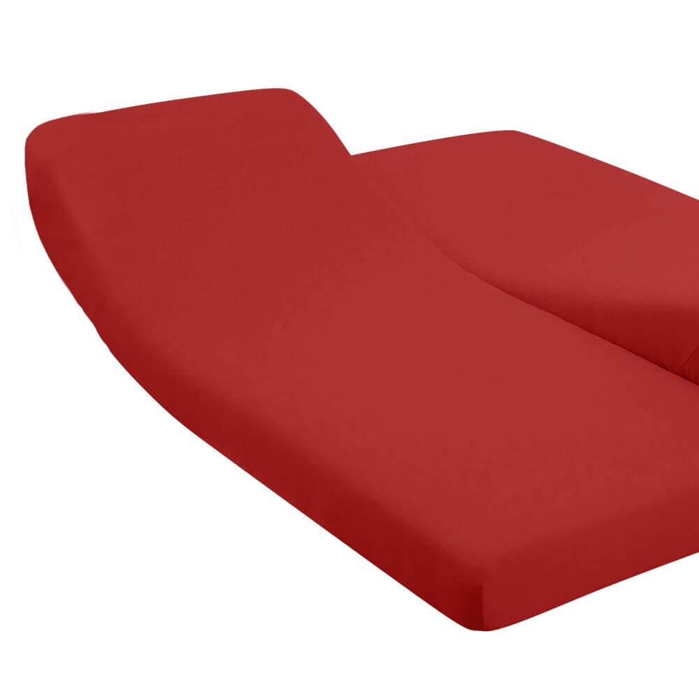 DH - 180 x 200 cm - pour lit articulé : Couleur:Bordeaux