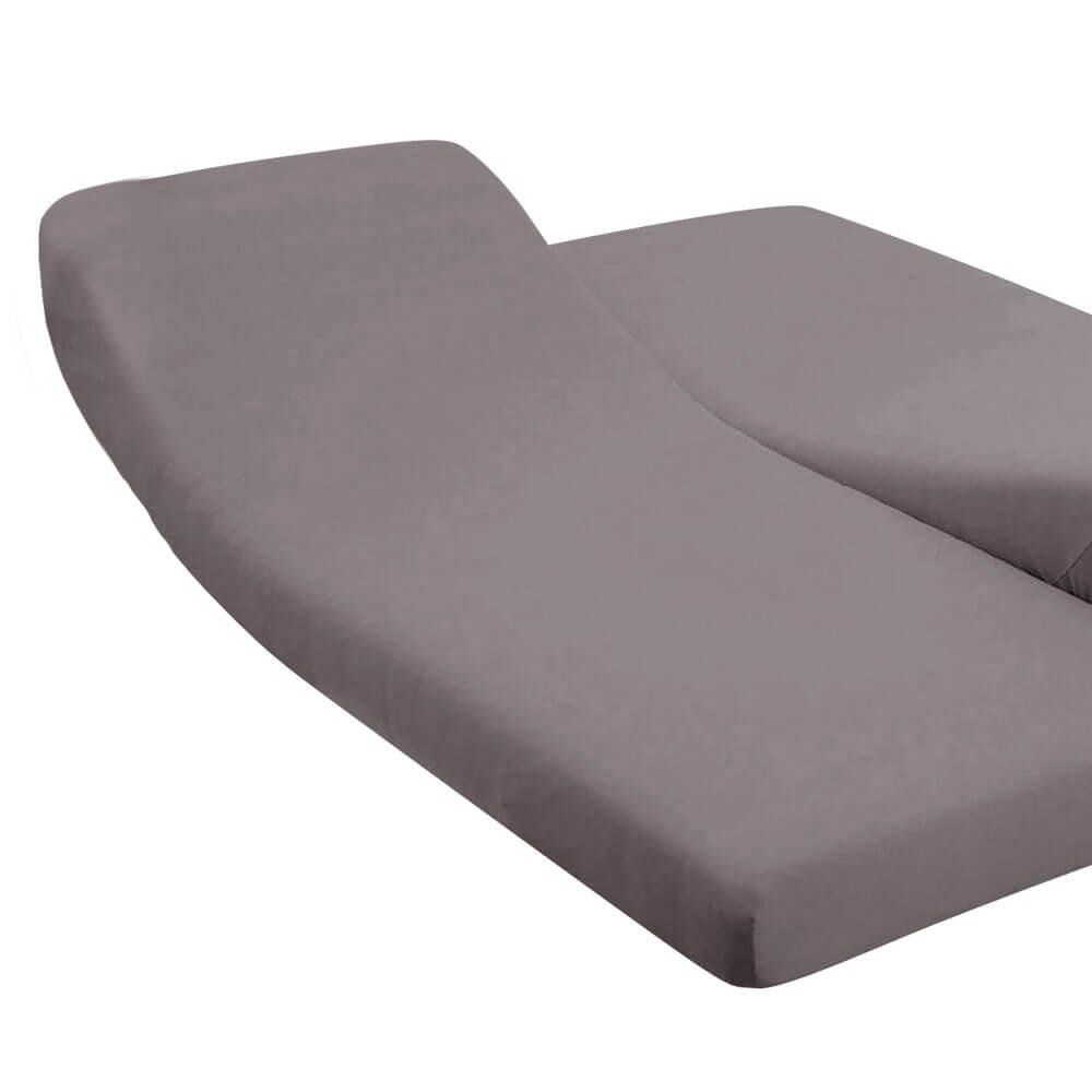 DH - 180 x 200 cm - pour lit articulé : Couleur:Taupe