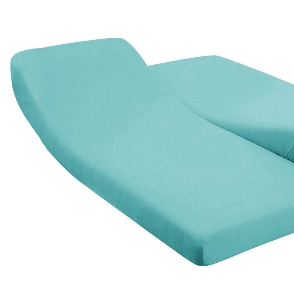 DH - 180 x 200 cm - pour lit articulé : Couleur:Turquoise