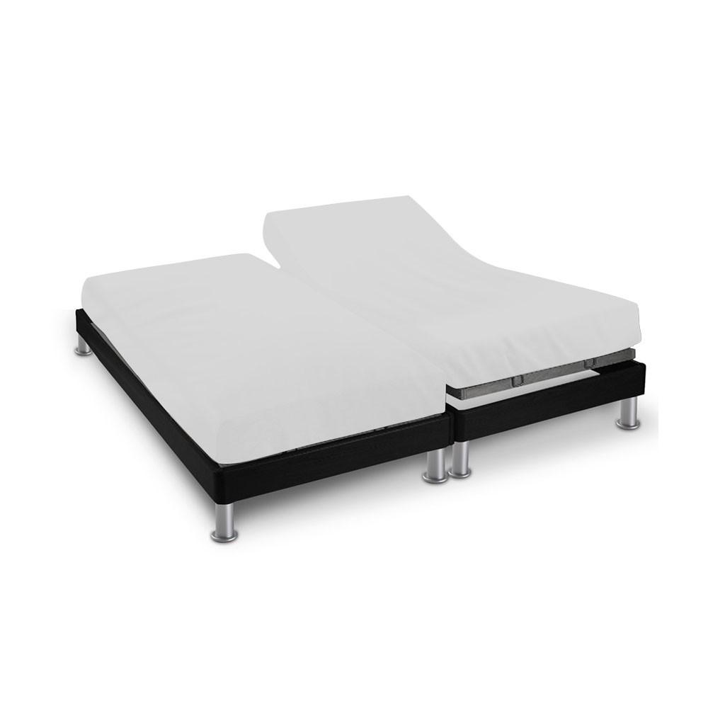 Drap house - 2 x (80 x 200 cm) - pour lit articulé : Couleur:Blanc