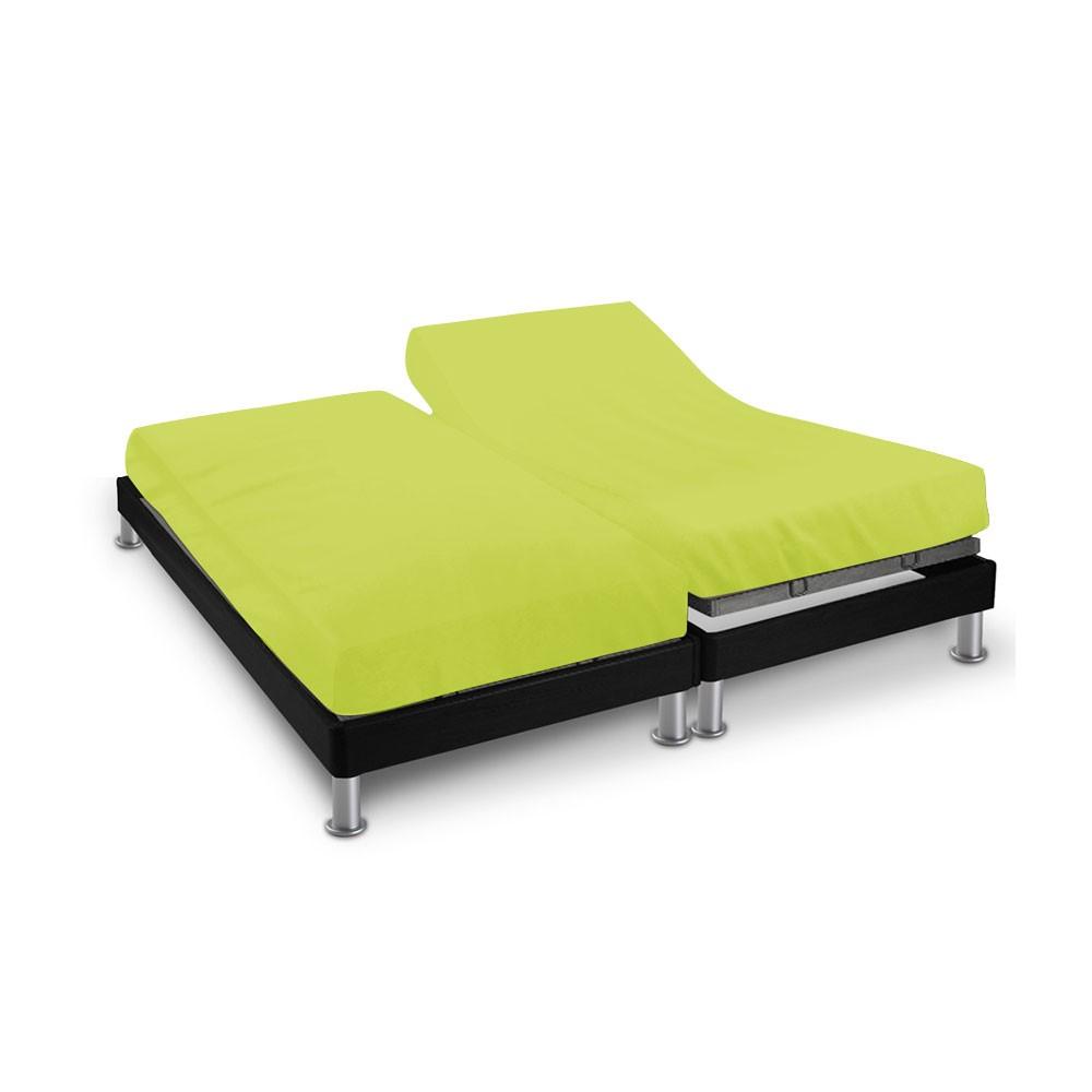 Drap house - 2 x (80 x 200 cm) - pour lit articulé : Couleur:Vert