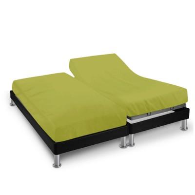 Drap housse - 2 x (90 x 200 cm) - pour lit articulé