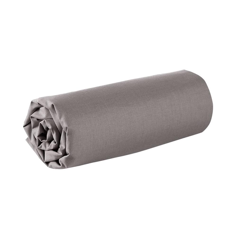 Drap housse - 160 x 200 cm - 100% coton - Différents coloris : Couleur:Bronze