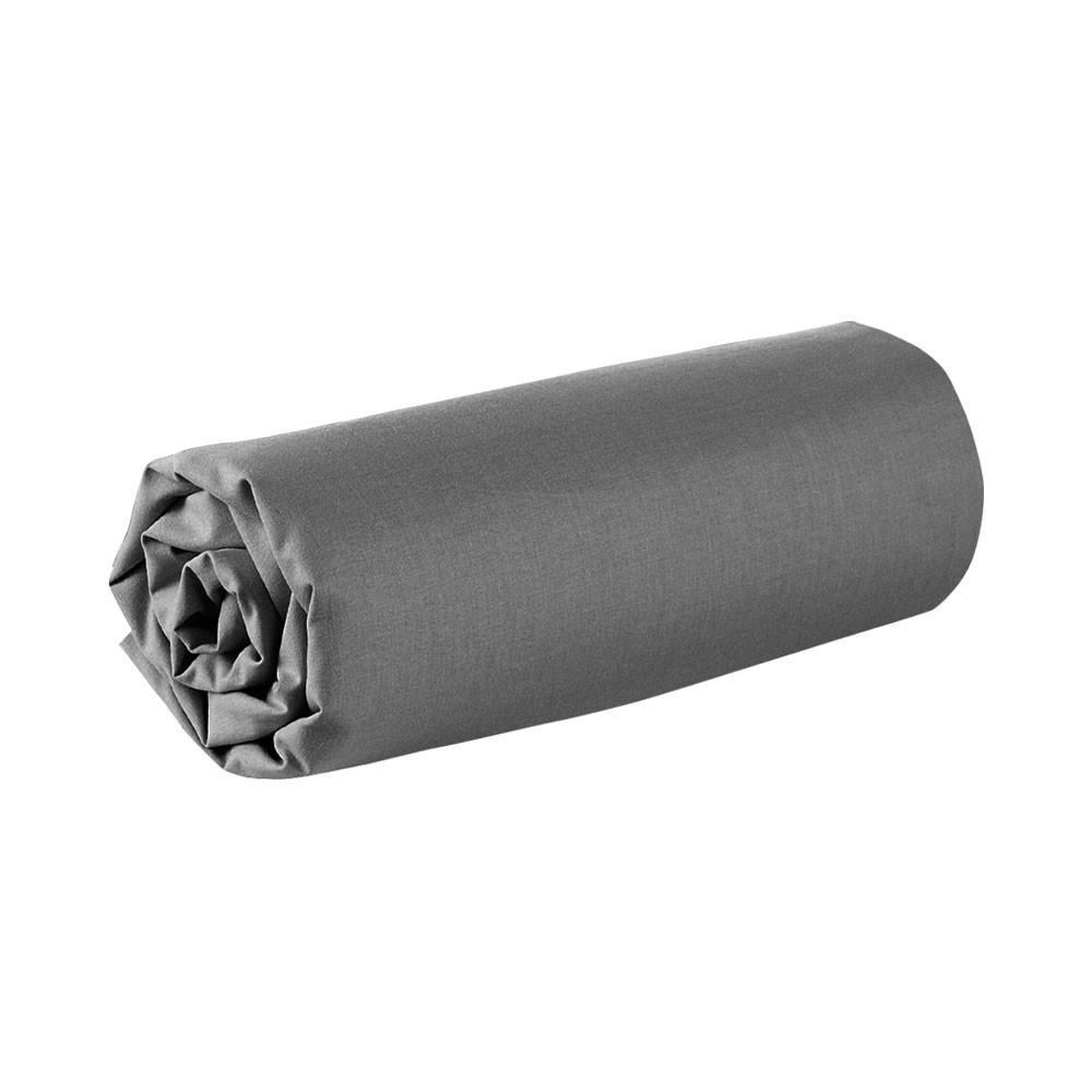 Drap housse - 160 x 200 cm - 100% coton - Différents coloris : Couleur:Canon de fusil