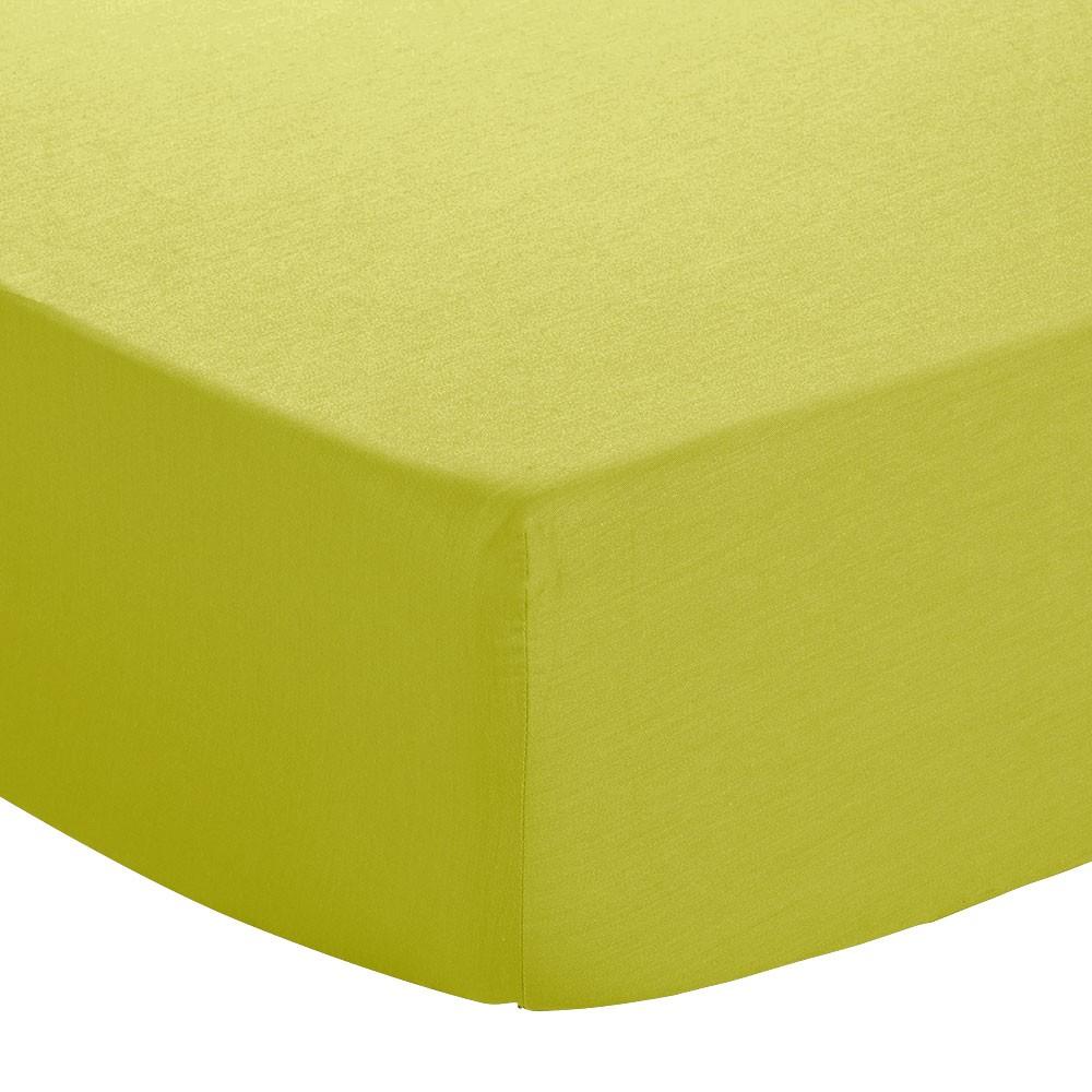 Drap housse - 90 x 190 cm - Jersey : Couleur:Vert