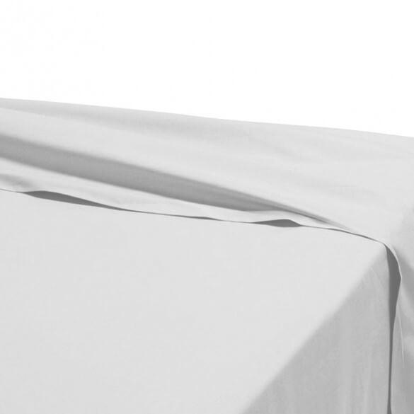 Drap plat - 180 x 290 cm - 100% coton - 57 fils - France