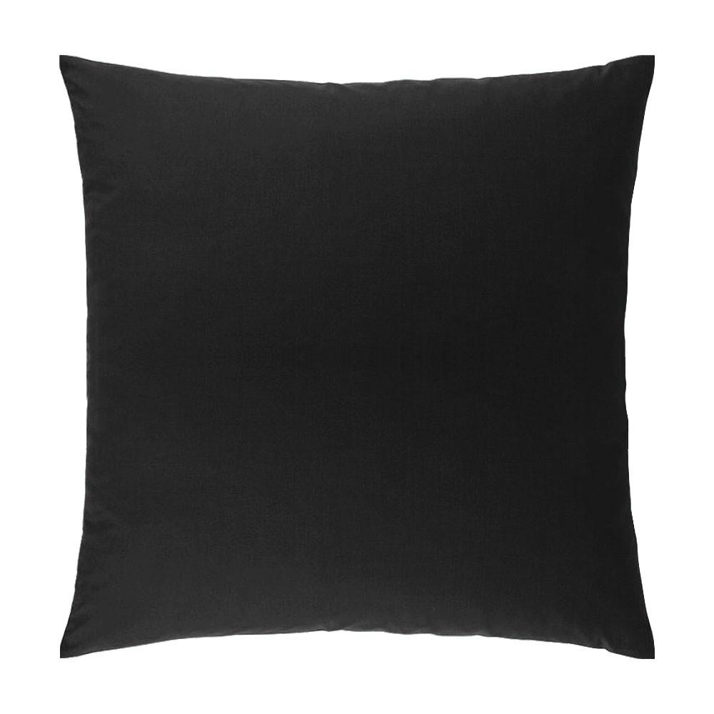 Taie d'oreiller carrée - 63 x 63 cm - Atmo - unie : Couleur:Noir