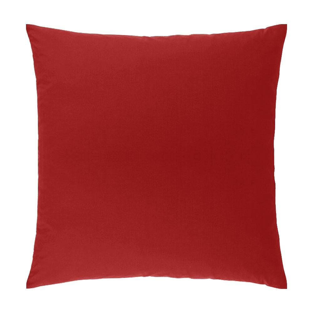 Taie d'oreiller carrée - 63 x 63 cm - Atmo - unie : Couleur:Rouge