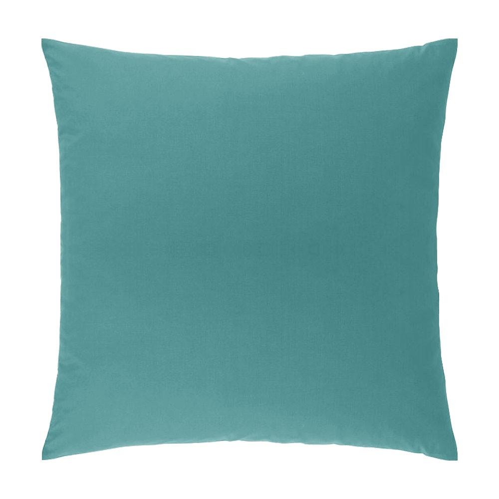 Taie d'oreiller carrée - 63 x 63 cm - Atmo - unie : Couleur:Turquoise