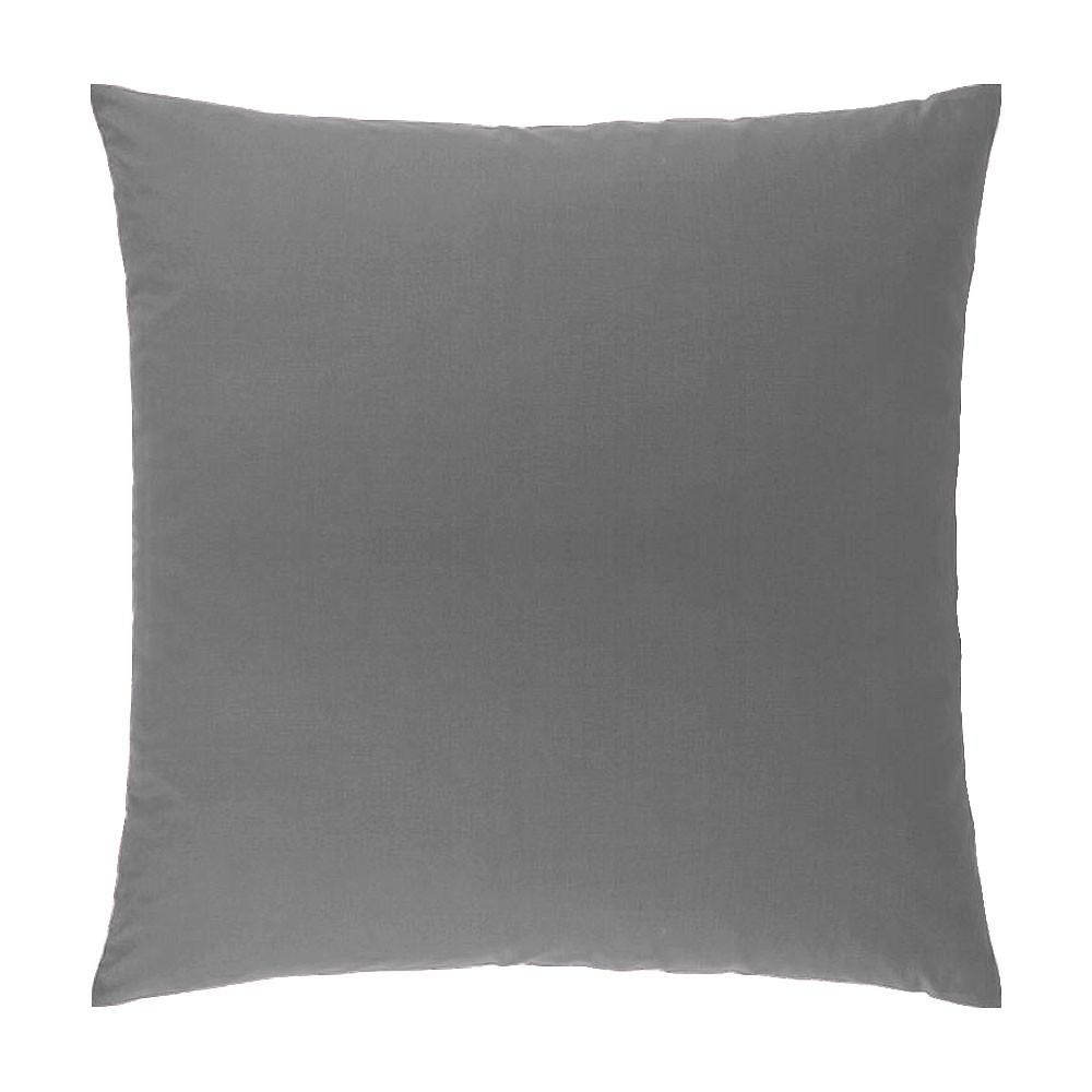 Taie d'oreiller carrée - 63 x 63 cm - Atmo - unie : Couleur:Gris
