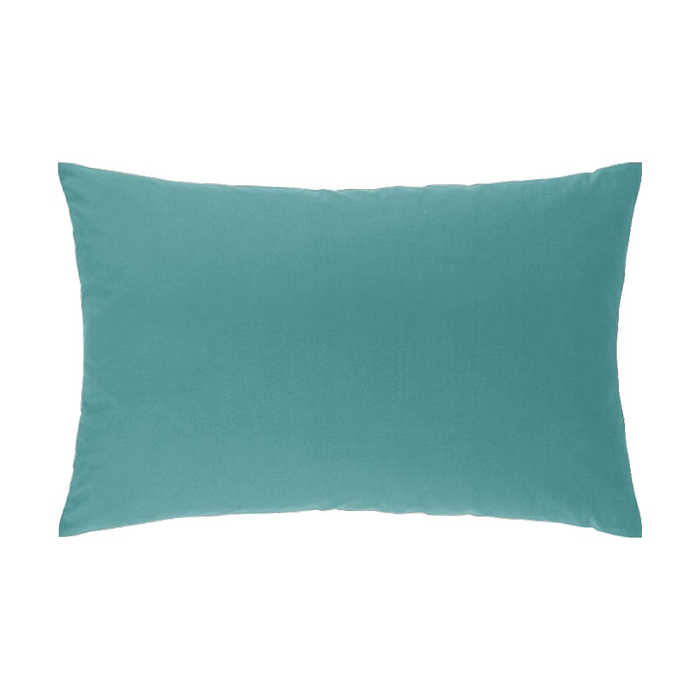 Taie d'oreiller rectangle - 50 x 75 cm - Atmo - Uni : Couleur:Turquoise