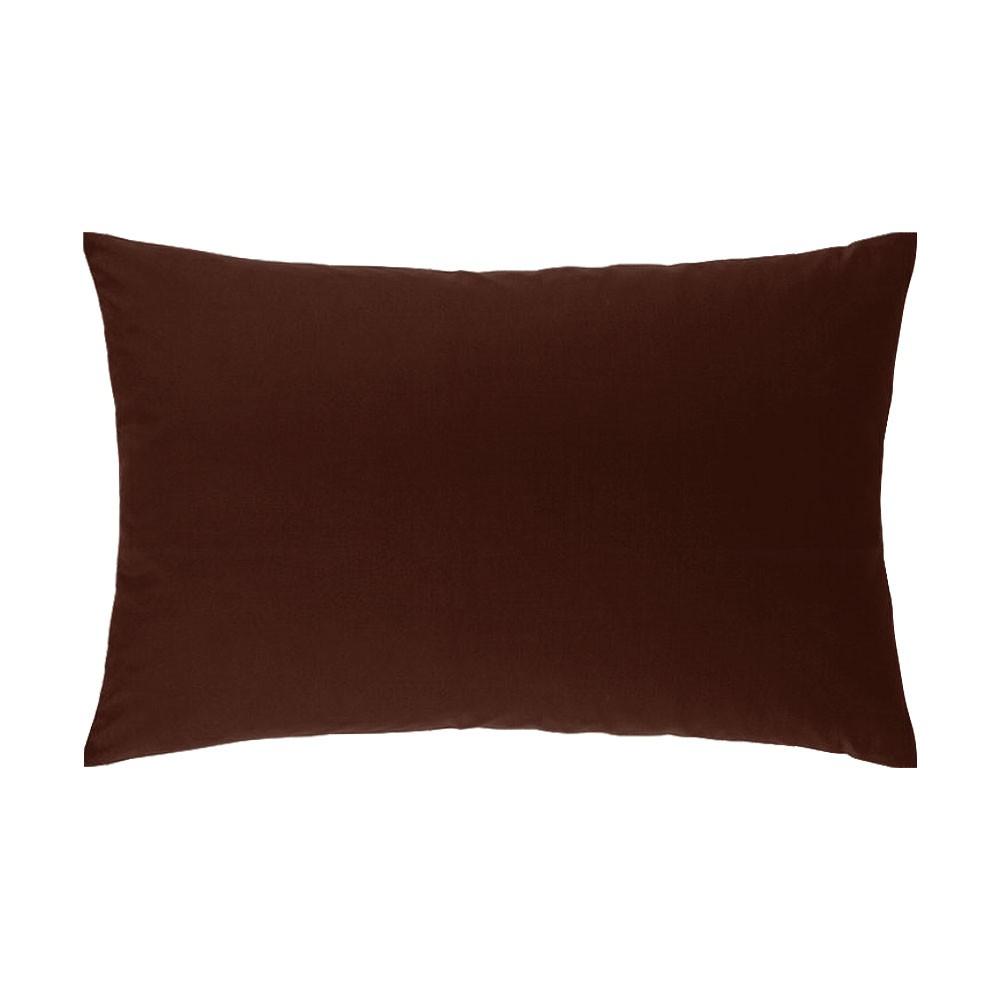 Taie d'oreiller rectangle - 50 x 75 cm - Atmo - Uni : Couleur:Chocolat
