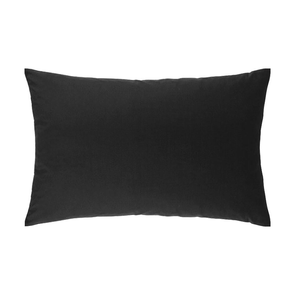Taie d'oreiller rectangle - 50 x 75 cm - Atmo - Uni : Couleur:Noir