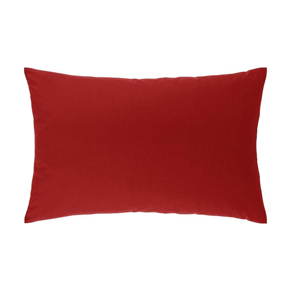 Taie d'oreiller rectangle - 50 x 75 cm - Atmo - Uni : Couleur:Rouge