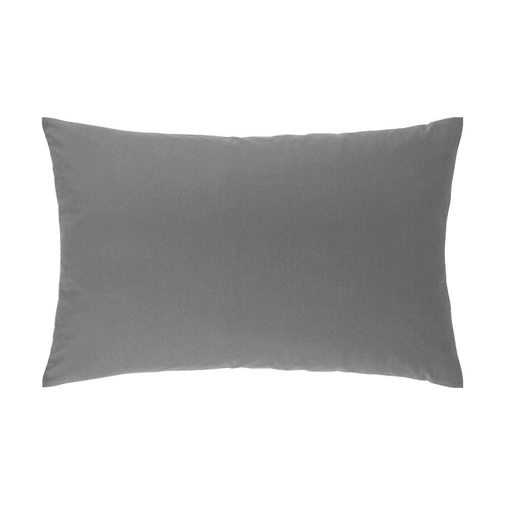 Taie d'oreiller rectangle - 50 x 75 cm - Atmo - Uni : Couleur:Gris