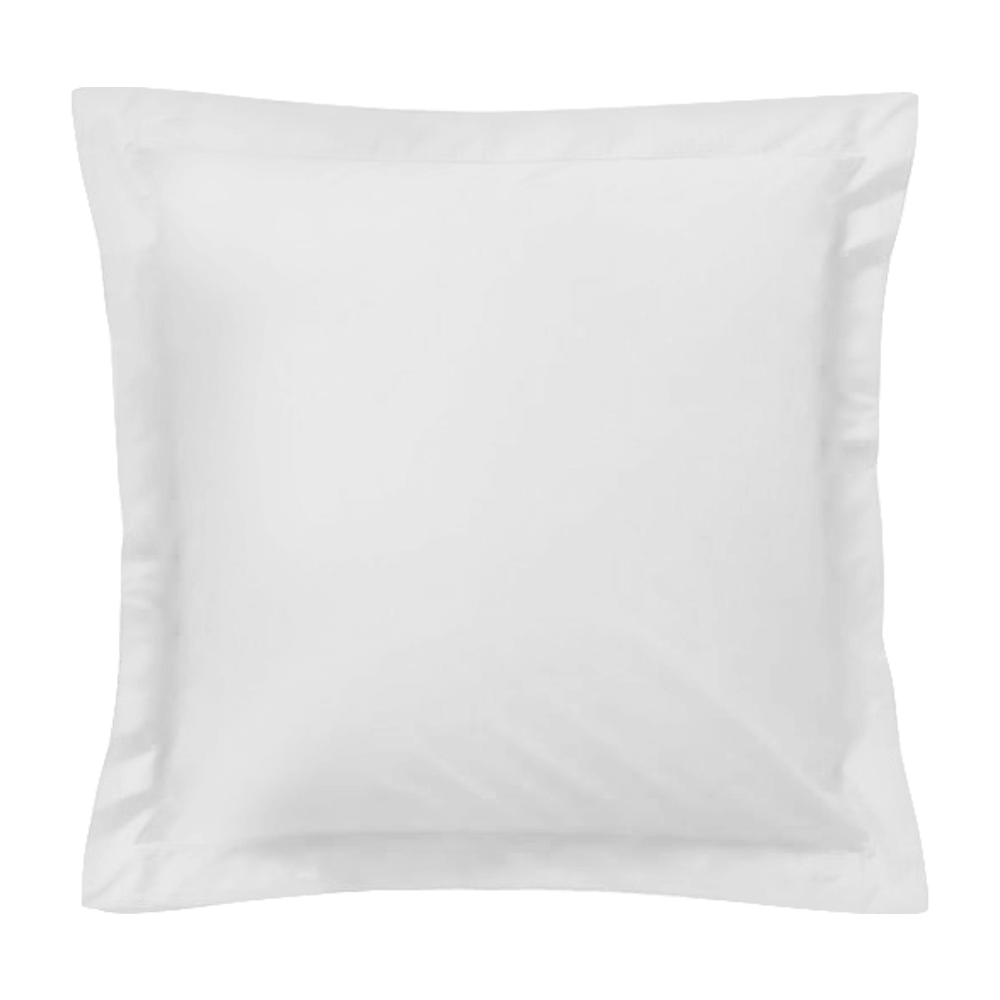 Taie d'oreiller carrée - 65 x 65 cm - 57 fils - 100% coton - France : Couleur:Blanc