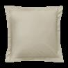 Taie d'oreiller carrée - 65 x 65 cm - 57 fils - 100% coton - France : Couleur:Écru