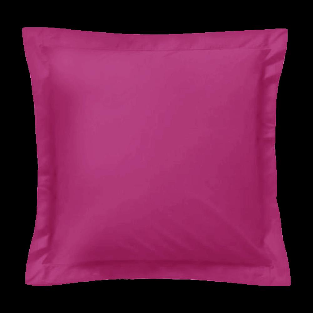 Taie d'oreiller carrée - 65 x 65 cm - 57 fils - 100% coton - France : Couleur:Fuchsia