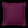 Taie d'oreiller carrée - 65 x 65 cm - 57 fils - 100% coton - France : Couleur:Prune