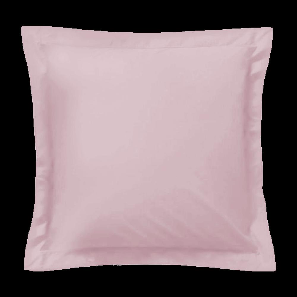 Taie d'oreiller carrée - 65 x 65 cm - 57 fils - 100% coton - France : Couleur:Rose