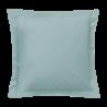 Taie d'oreiller carrée - 65 x 65 cm - 57 fils - 100% coton - France : Couleur:Turquoise