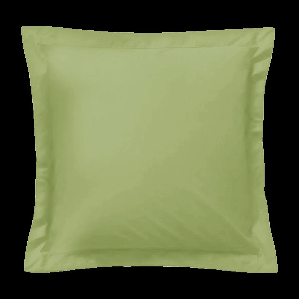 Taie d'oreiller carrée - 65 x 65 cm - 57 fils - 100% coton - France : Couleur:Vert