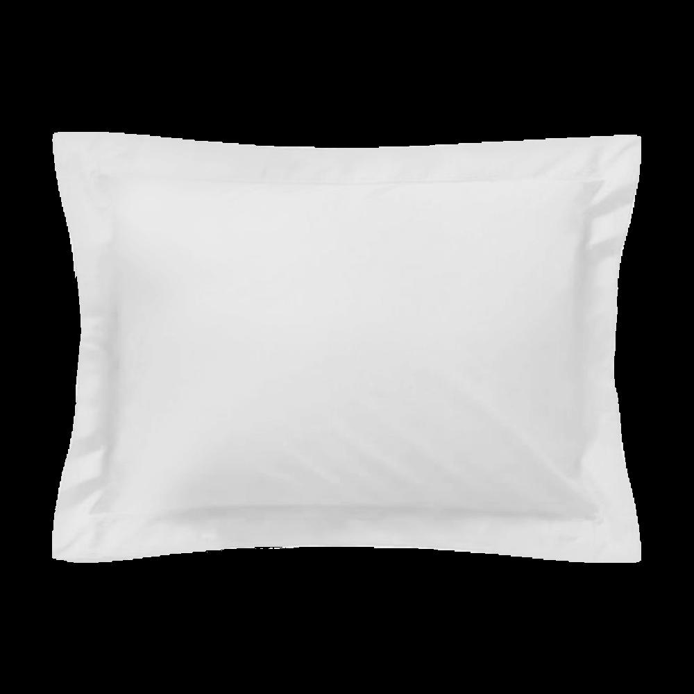 Taie d'oreiller rectangle - 50 x 75 cm - 100% coton - France : Couleur:Blanc