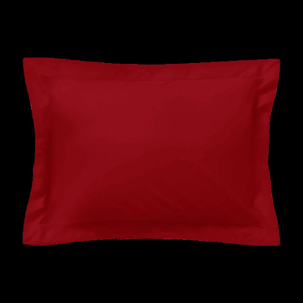 Taie d'oreiller rectangle - 50 x 75 cm - 100% coton - France : Couleur:Bordeaux