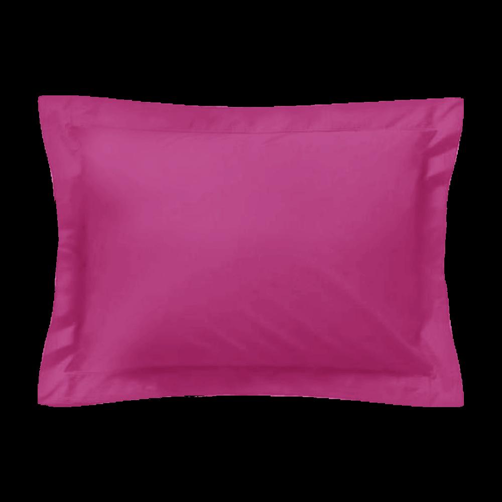 Taie d'oreiller rectangle - 50 x 75 cm - 100% coton - France : Couleur:Fuchsia