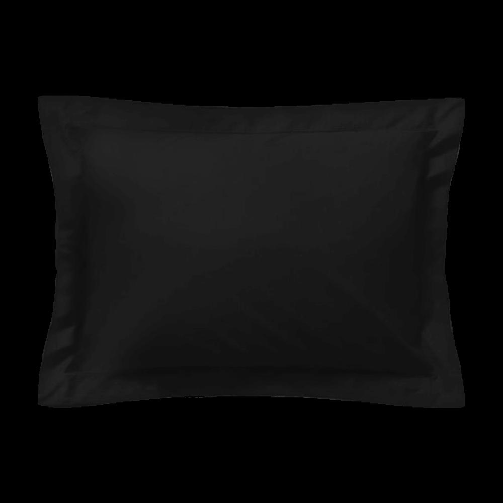 Taie d'oreiller rectangle - 50 x 75 cm - 100% coton - France : Couleur:Noir