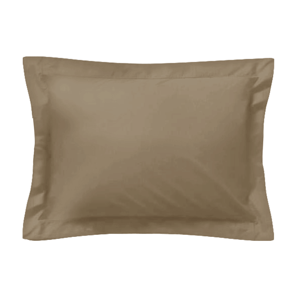 Taie d'oreiller rectangle - 50 x 75 cm - 100% coton - France : Couleur:Taupe