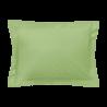Taie d'oreiller rectangle - 50 x 75 cm - 100% coton - France : Couleur:Vert