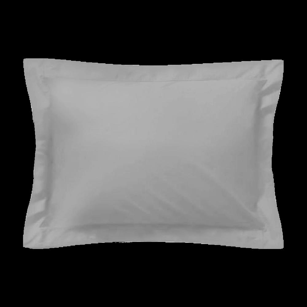 Taie d'oreiller rectangle - 50 x 75 cm - 100% coton - France : Couleur:Gris