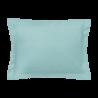 Taie d'oreiller rectangle - 50 x 75 cm - 100% coton - France : Couleur:Turquoise