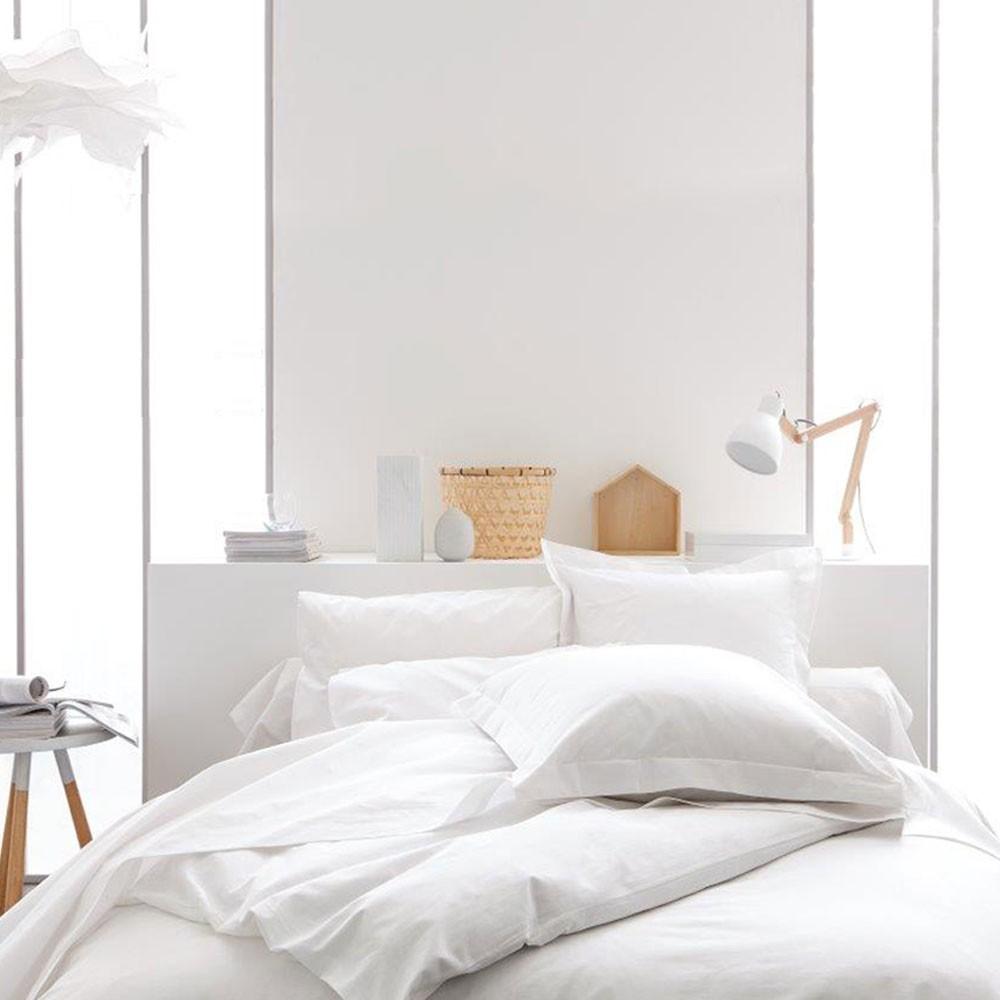Housse de couette unie - 240 x 260 cm - 100% coton - Différents coloris : Couleur:Chantilly